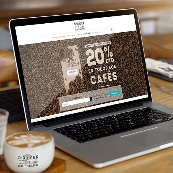 D·Origen Coffee Roasters - Diseño, desarrollo web y campañas publicitarias