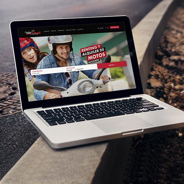 Motos Motour - Desarrollo web, marketing y estrategia