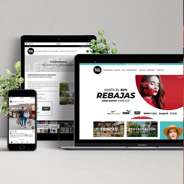 The Outlet Stores Alicante - Desarrollo web, marketing online y estrategia