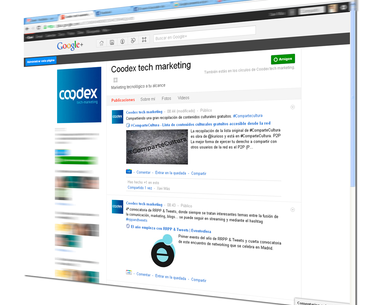 coodex tech marketing google plus1 1 - Posicionamiento web: Google muestra resultados de entradas en Google+