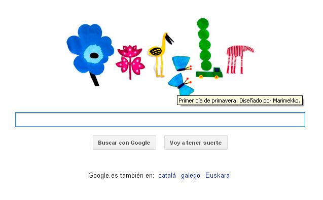 doodle primavera1 1 - Ya es primavera en Internet
