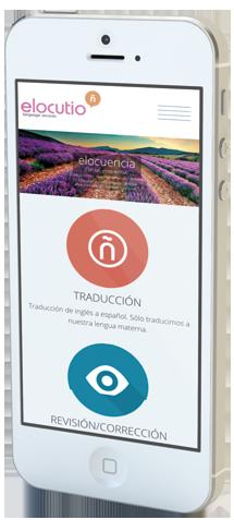 diseno web elocutio lenguage services traduccion movil 03 461x1024 1 - Diseño y desarrollo de páginas web en Alicante: Elocutio