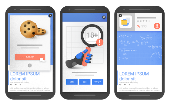 popups no intrusivas 574x3501 - Google penalizará a las webs con popups intrusivos en móviles