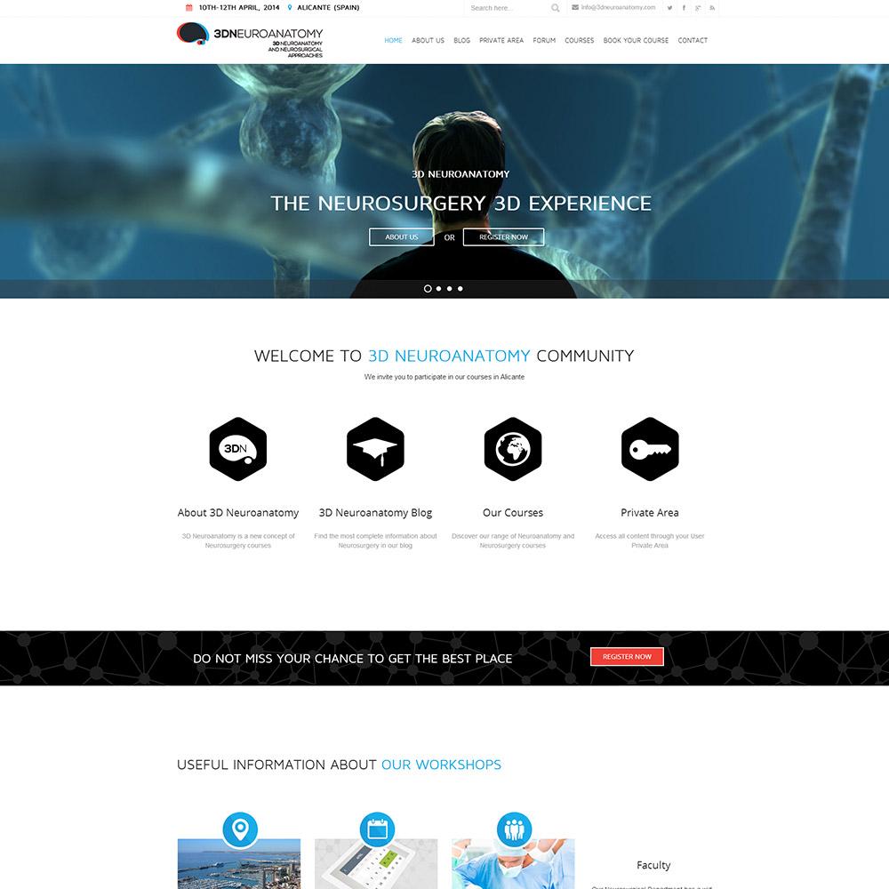 diseno web 3dneuroanatomy servicios medicos 07 1000 - Diseño de páginas web Alicante: 3D Neuroanatomy