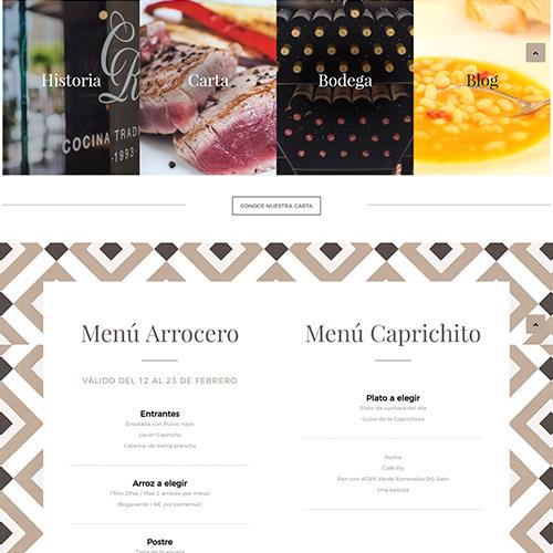 diseno web capricho raquel restaurante 02 500 - El Capricho de Raquel