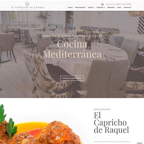 diseno web capricho raquel restaurante 03 500 - Diseño web, marketing online Alicante: El Capricho de Raquel