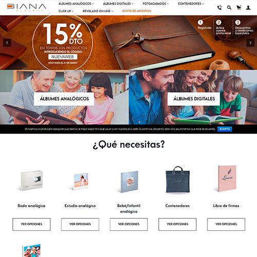 diseno web diana albumes tienda online fotografia 02 500 - Diseño tiendas online y marketing online Alicante: Diana Álbumes