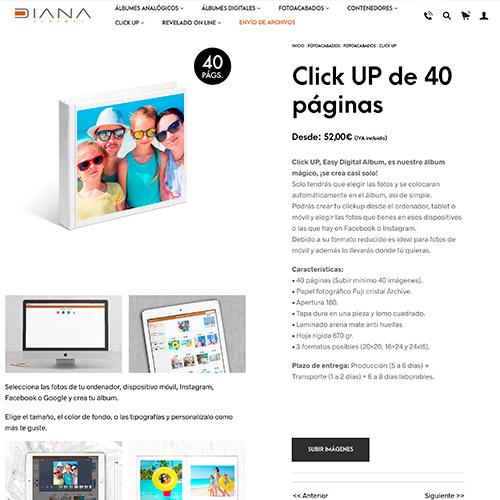diseno web diana albumes tienda online fotografia 06 500 - Diseño tiendas online y marketing online Alicante: Diana Álbumes