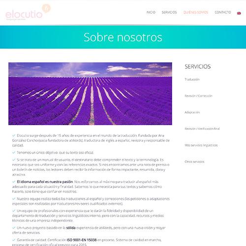 diseno web elocutio lenguage services traduccion 05 500 - Diseño y desarrollo de páginas web en Alicante: Elocutio