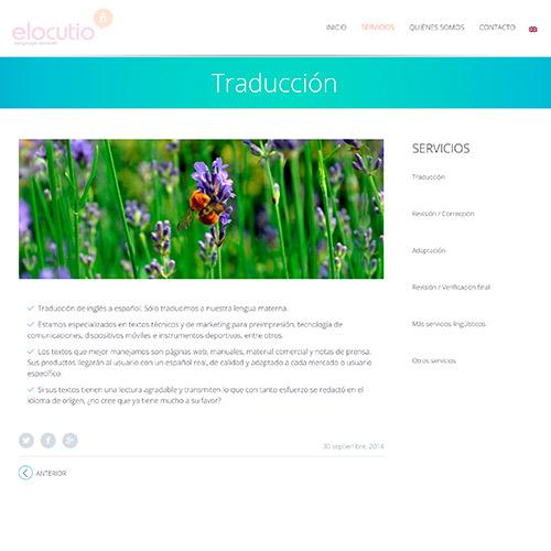 diseno web elocutio lenguage services traduccion 06 500 - Diseño y desarrollo de páginas web en Alicante: Elocutio