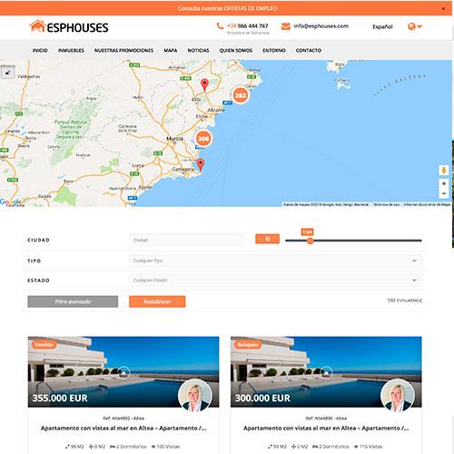 diseno web esphouse inmobiliaria venta casas 02 500 - Diseño páginas web Alicante: Esphouses