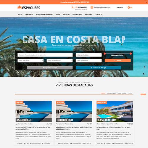 diseno web esphouse inmobiliaria venta casas 04 500 - Diseño páginas web Alicante: Esphouses