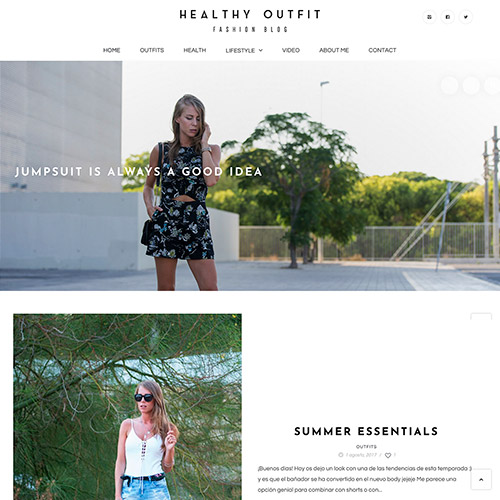 diseno web healthy outfit fashion blog 02 500 - Diseño de páginas web Alicante: Healthy Outfit