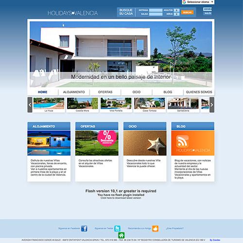 diseno web holidayinvalencia casas valencia 03 500 - Diseño de páginas web en Alicante y Valencia: Holidays in Valencia