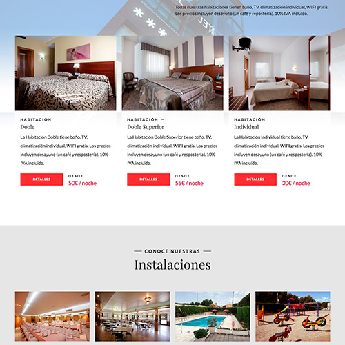 diseno web hotel marivella hoteles 05 500 - Diseño web  y Marketing Online Hotel Marivella