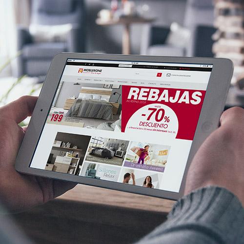 diseno web moblerone tienda muebles 01 500 - Marketing online, diseño web y tienda online Alicante: Moblerone