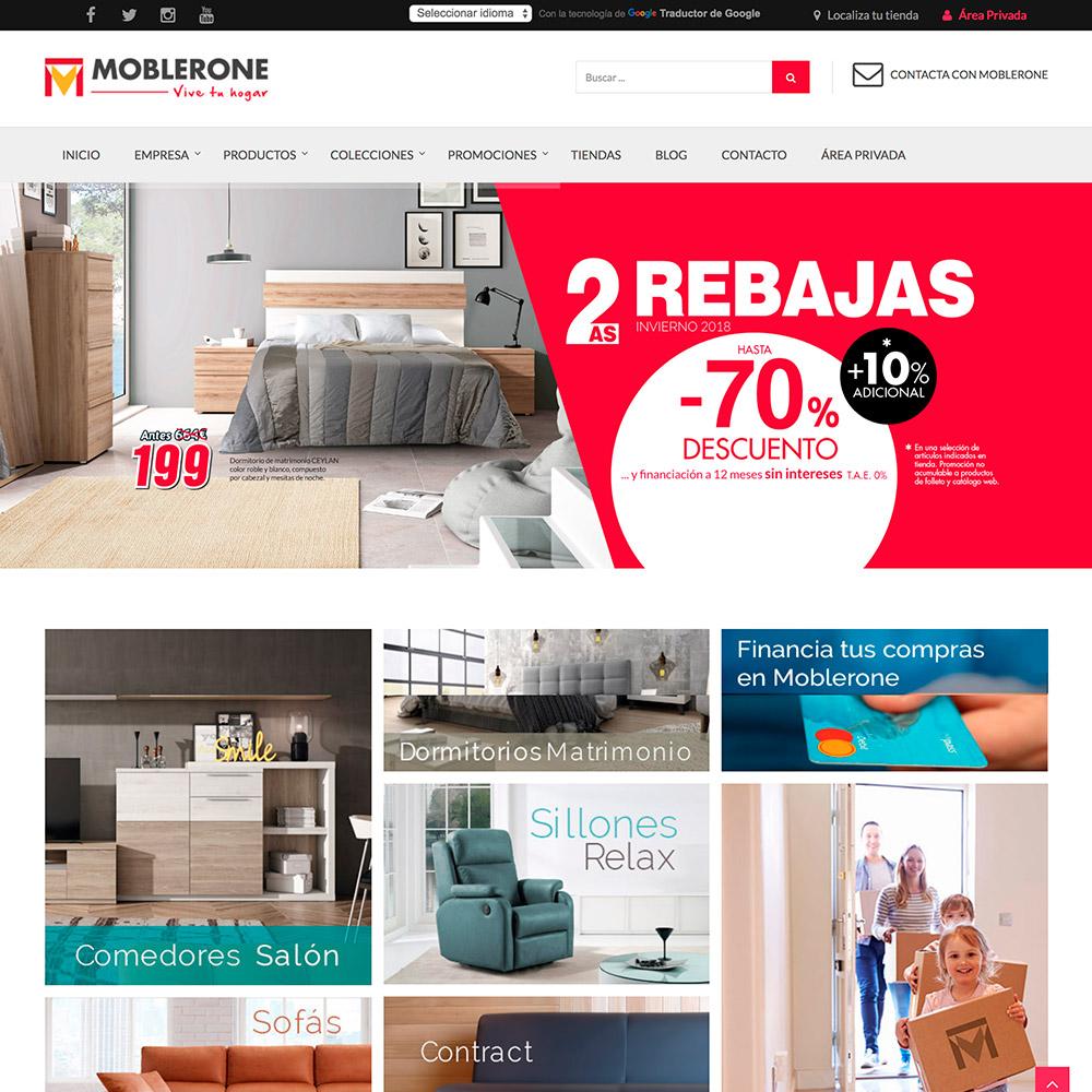 diseno web moblerone tienda muebles 02 1000 - Marketing online, diseño web y tienda online Alicante: Moblerone