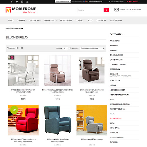 diseno web moblerone tienda muebles 03 500 - Diseño de páginas web Alicante: Moblerone