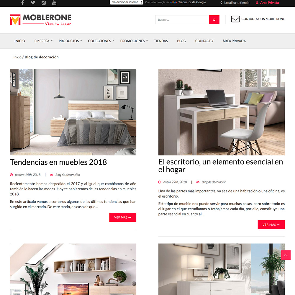 Dise o p ginas web y marketing online moblerone - Paginas de muebles ...