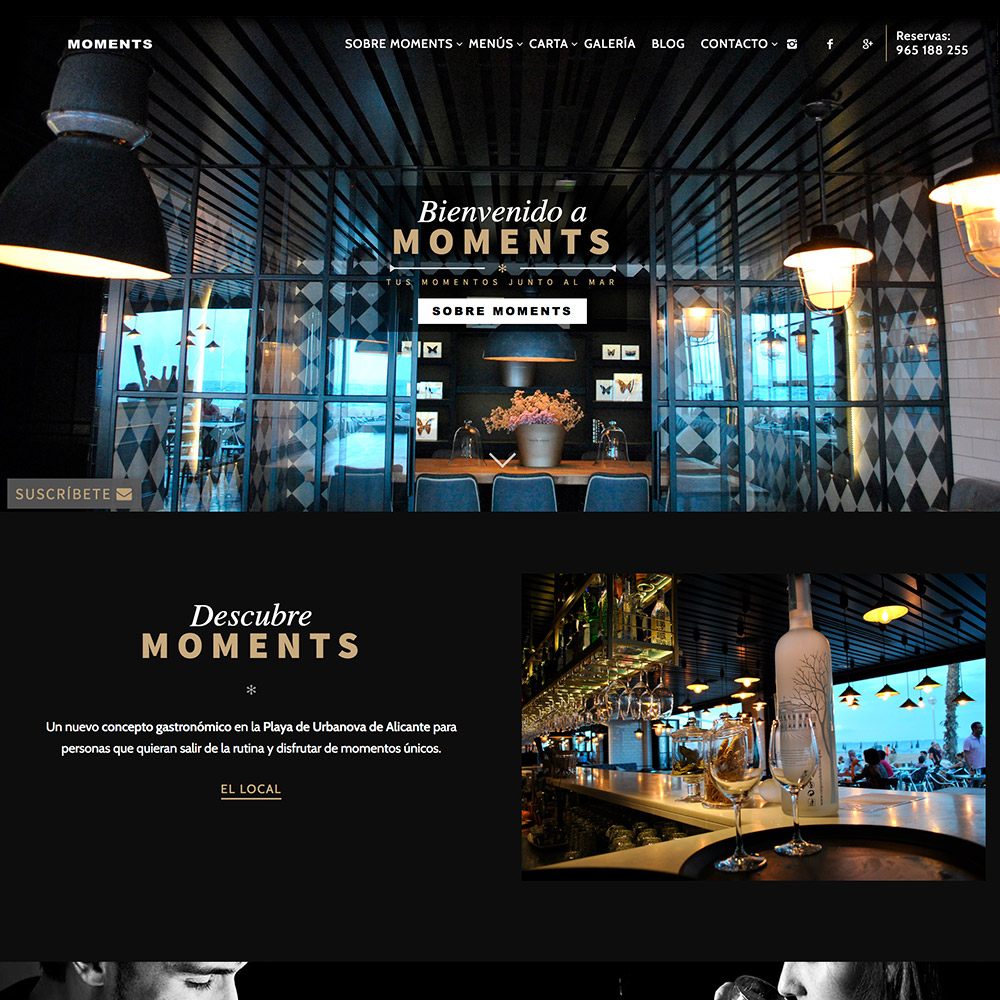diseno web moments bar restaurante 05 1000 - Diseño páginas web Alicante: Moments Bar