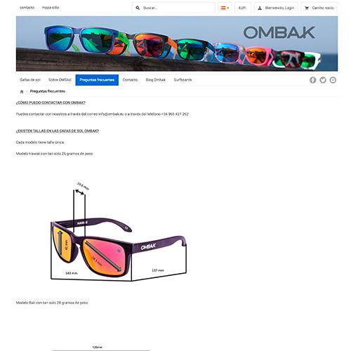 diseno web ombak tienda online gafas 03 500 - Diseño de tiendas online con Prestashop: Ombak