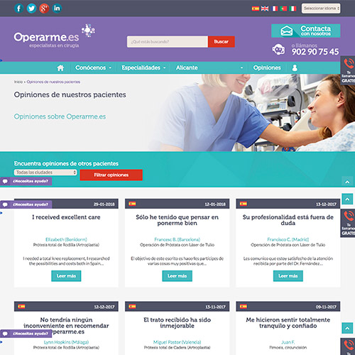 diseno web operame servicios medicos cirugia 05 500 - Diseño páginas web Alicante: Operarme.es