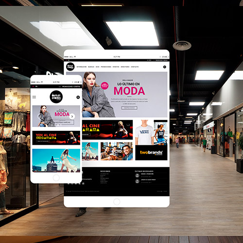 diseno web oulet store centro comercial tiendas 01 500 - Diseño web Alicante: Centro Comercial The Outlet Stores