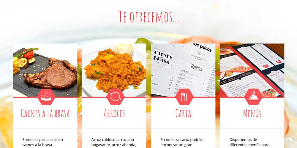 diseno web pacos restaurante 01 1000x500 1 - Diseño web Alicante: Restaurante Brasería Los Pacos