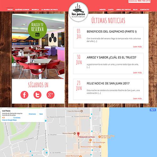 diseno web pacos restaurante 05 500 - Diseño web Alicante: Restaurante Brasería Los Pacos