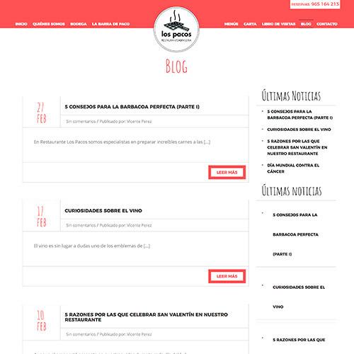diseno web pacos restaurante 09 1000 - Diseño web Alicante: Restaurante Brasería Los Pacos