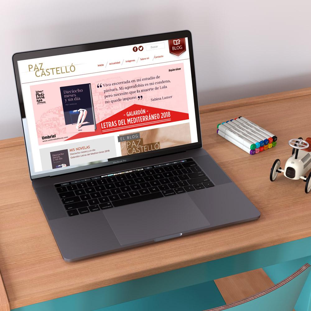 diseno web paz castello escritora blog 01 1000 - Diseño de páginas web en Alicante: Paz Castelló