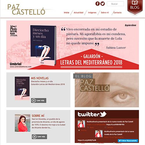 diseno web paz castello escritora blog 02 500 - Diseño de páginas web en Alicante: Paz Castelló