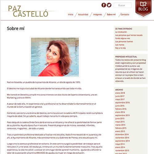diseno web paz castello escritora blog 03 500 - Diseño de páginas web en Alicante: Paz Castelló