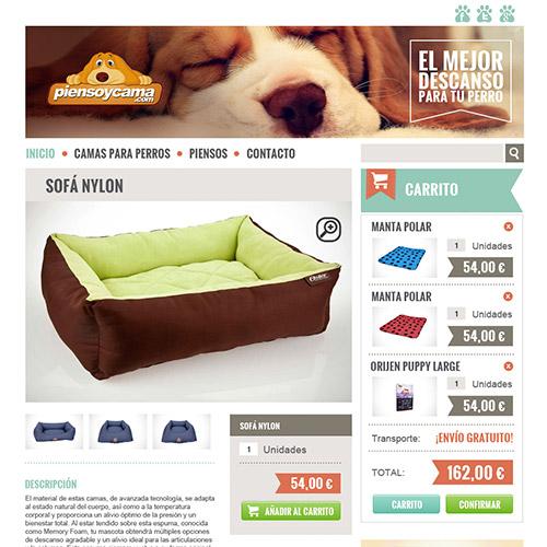 diseno web piensoycama tienda productos mascotas 05 500 - Diseño de tiendas online con Prestashop: Pienso y cama