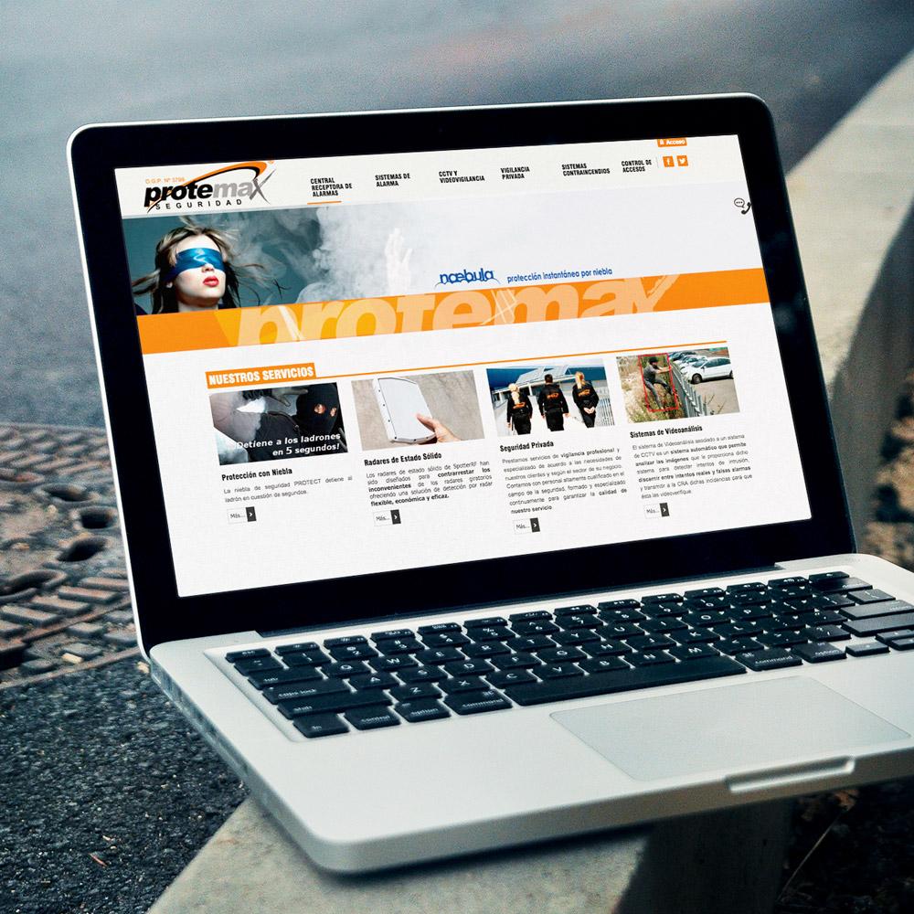 diseno web protemax seguridad 01 1000 - Diseño de páginas web Alicante: Protemax Seguridad