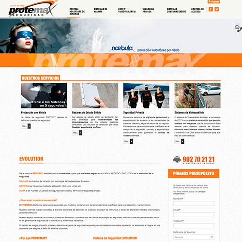 diseno web protemax seguridad 02 500 - Diseño de páginas web Alicante: Protemax Seguridad