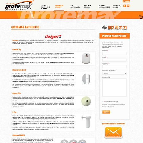 diseno web protemax seguridad 03 500 - Diseño de páginas web Alicante: Protemax Seguridad