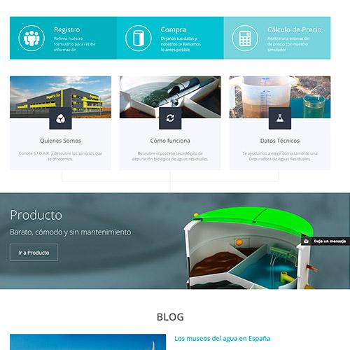 diseno web sidar servicio depuradoras 02 500 - Diseño de páginas web en Alicante: SIDAR