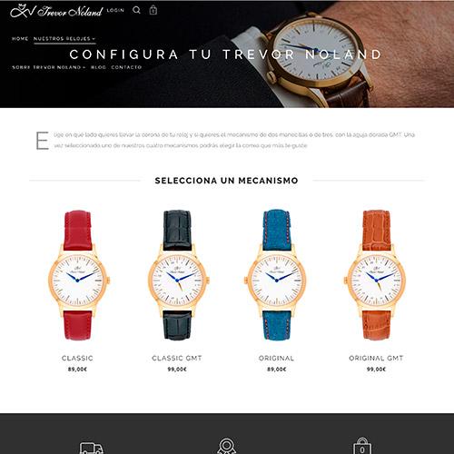diseno web trevor Noland tienda online relojes 03 500 - Diseño tiendas online y marketing online Alicante: Trevor Noland