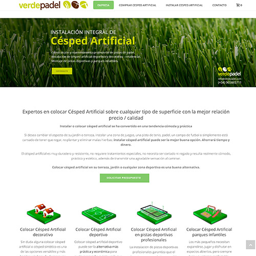 diseno web verdepadel cesped artificial 02 500 - Diseño páginas web y marketing online Alicante: Verdepadel