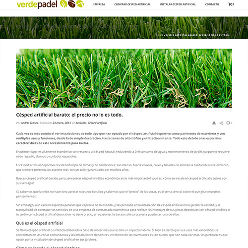 diseno web verdepadel cesped artificial 03 500 - Diseño páginas web y marketing online Alicante: Verdepadel