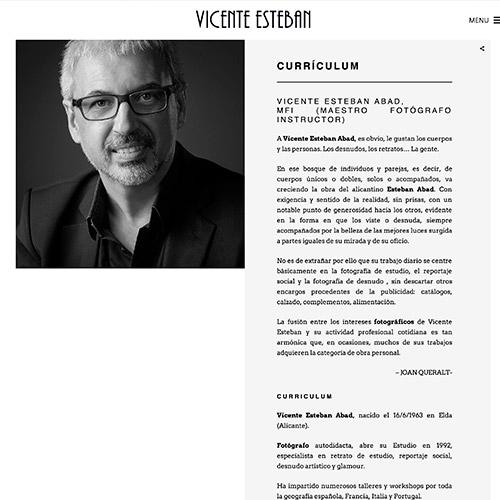 diseno web vicente esteban fotografia 02 500 - Diseño páginas web, marketing online, campañas SEO SEM Alicante: Vicente Esteban