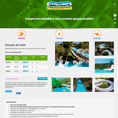 marketing online aqualandia publicidad atraciones aquaticas 04 500 - Marketing online; servicios generales Aqualandia