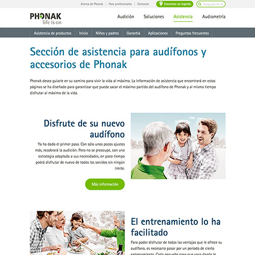 marketing online phonak publicidad audifonos 03 500 - Marketing online, servicios generales para Phonak España