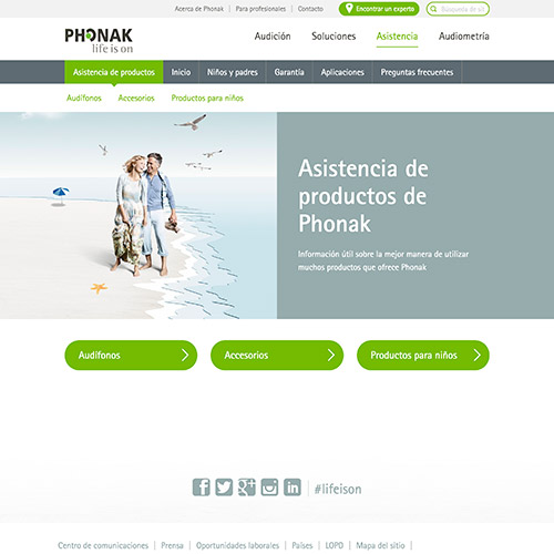 marketing online phonak publicidad audifonos 05 500 - Marketing online, servicios generales para Phonak España