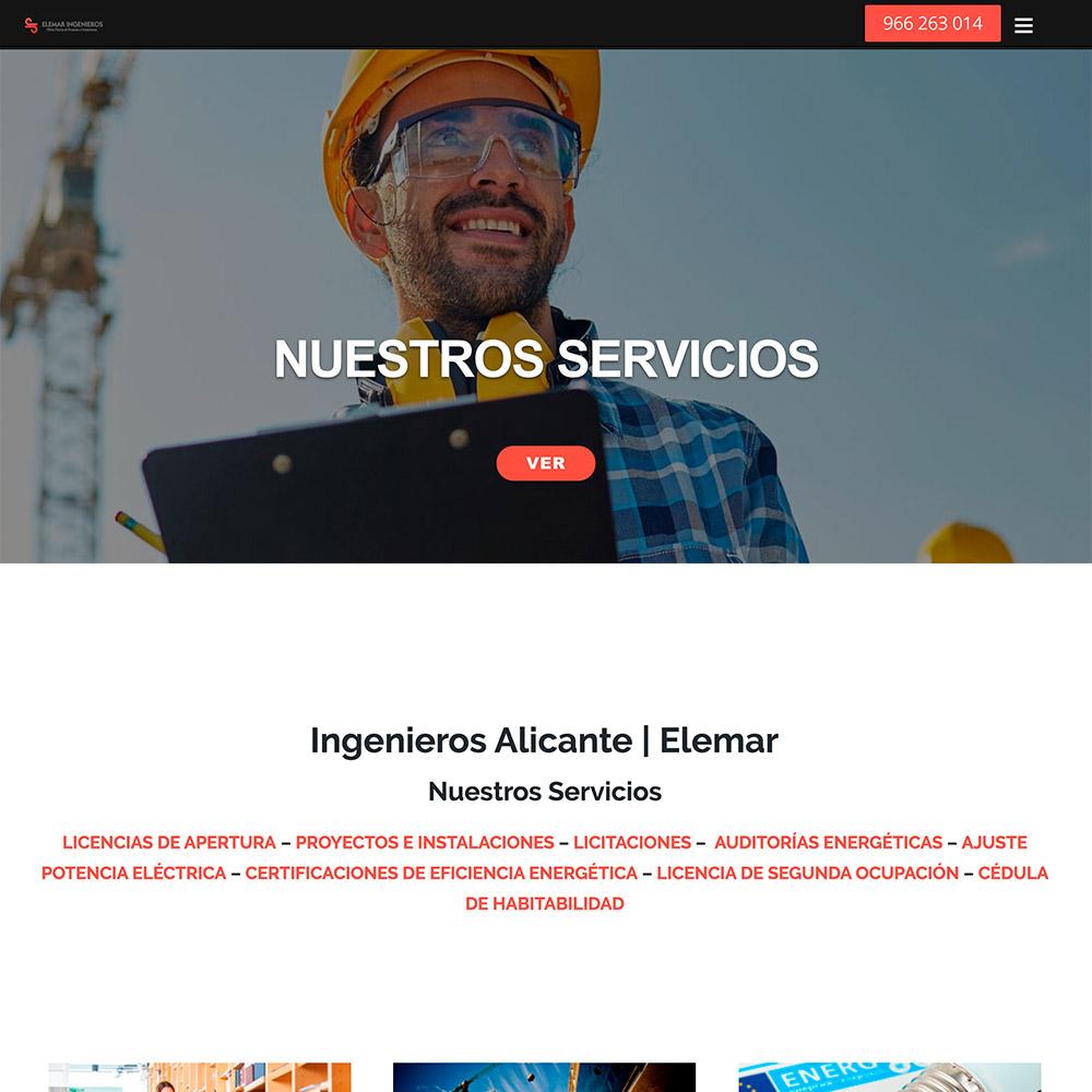 diseno web elemar ingenieros servicios ingieneria construcción 02 1000 copia - Diseño páginas web Alicante: Elemar Ingenieros