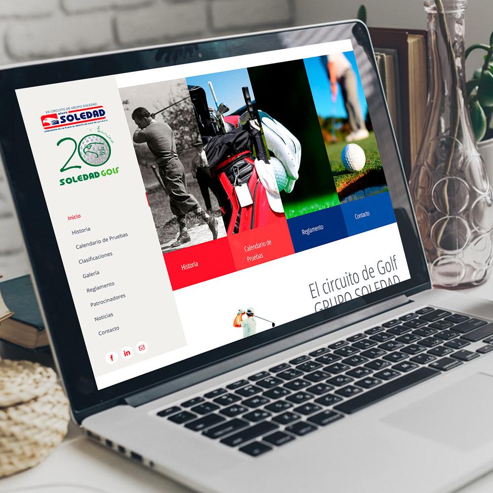 diseno web grupo soledad golf 01 1000 - Diseño web, Golf Soledad