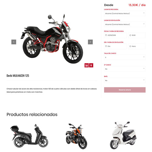 motos motour portfolio 3 prev - Diseño web Alicante y marketing online: MotosMotour