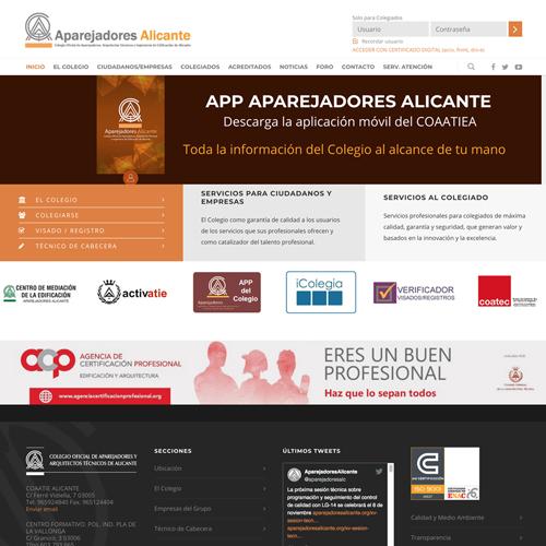 portfolio aparejadores 3 prev - Diseño web: Colegio Aparejadores Alicante