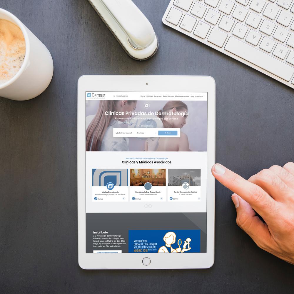 portfolio dermus 01 - Posicionamiento SEO y marketing online: Dermus